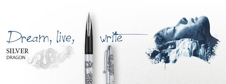 Pilot - Fine writing - Silver dragon