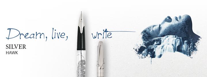 Pilot - Fine writing - Silver hawk