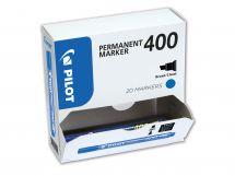 Marker Permanent  400 - Marker - Pachet XXL - Albastru - Vârf Gros Teșit