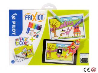 FriXion Colors - Set My FriX Book x 12 - Culori Asortate - Vârf Mediu