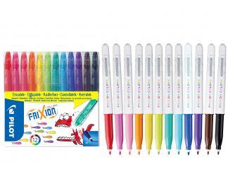 FriXion Colors - Set de 12 - Culori Asortate - Vârf Mediu