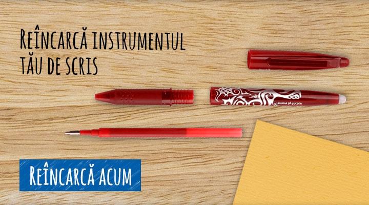 Reîncarcă instrumentul tău de scris